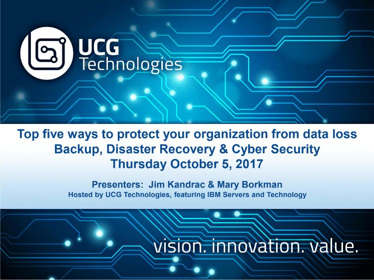 UCG IBM i Cloud Backup Webinar